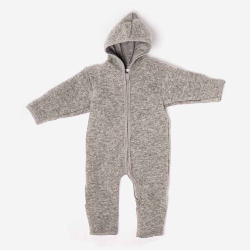 Baby Overall von Lilano aus Wollfilz in hellgrau 1