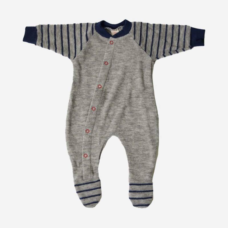 Frühchen Schlafanzug Wollfrottee
