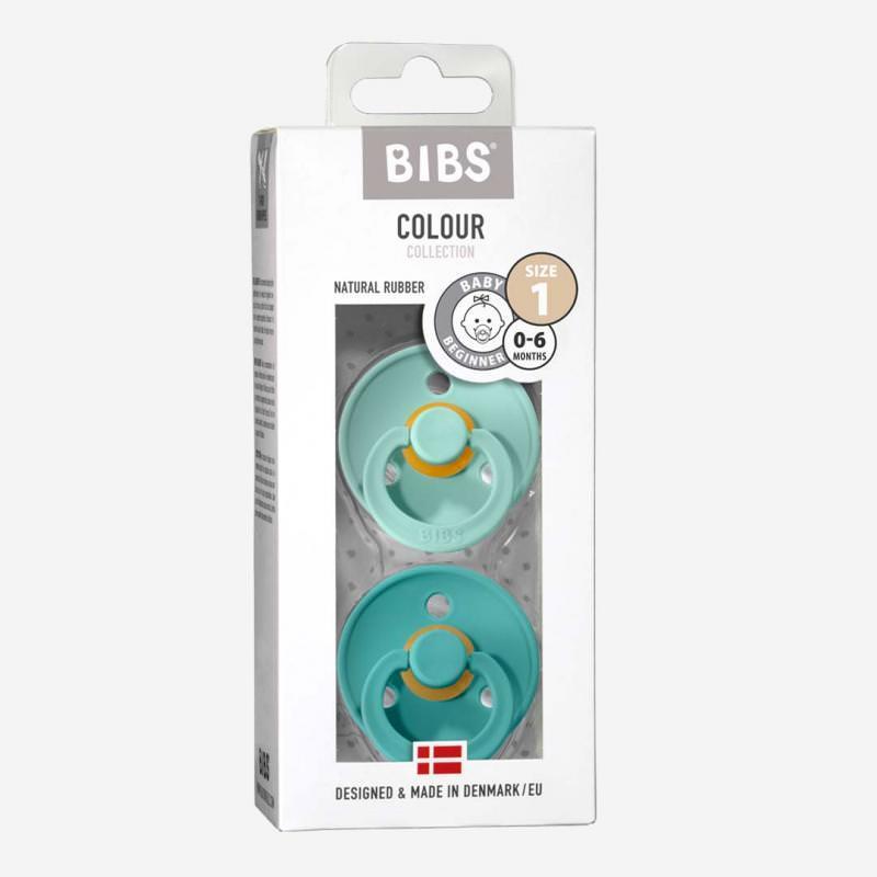 Bibs Schnuller Kautschuk 2er Pack mint & turquoise