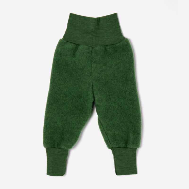 Babyhose Wollfleece grün