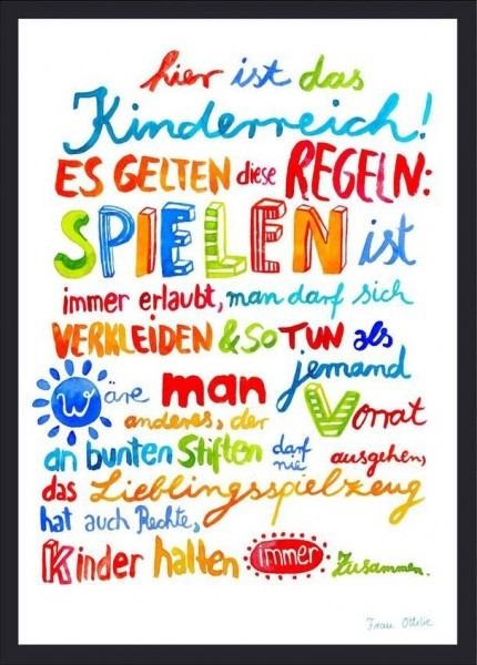 "Print ""Kinderzimmer"""