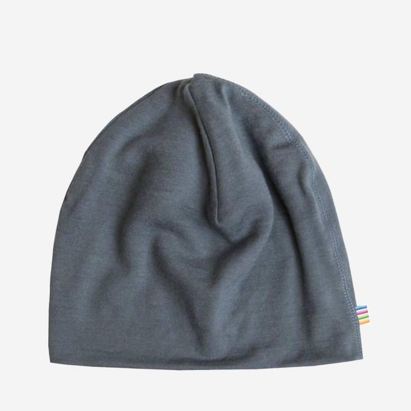 Mütze Merinowolle blau