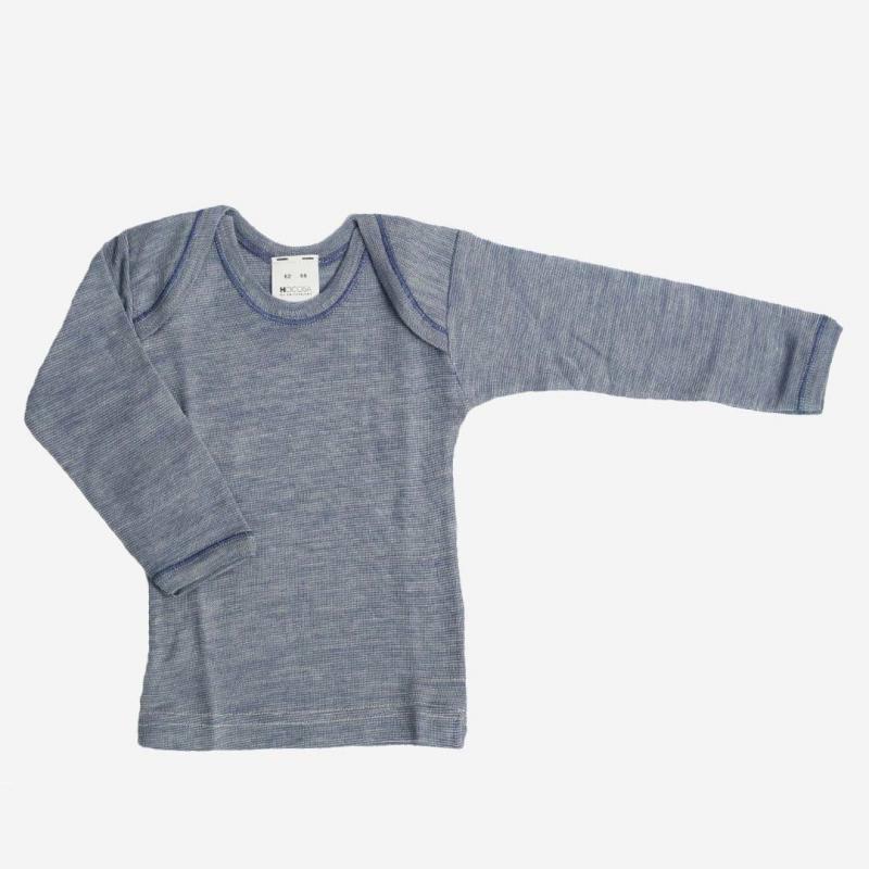 Schlupfhemd Wolle/Seide jeansblau