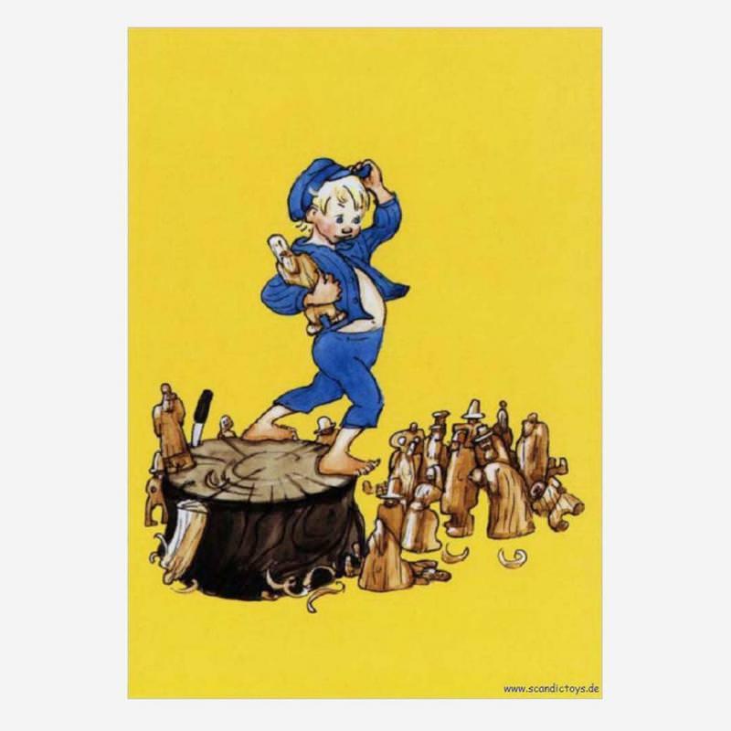 Postkarte Michels Holzfiguren