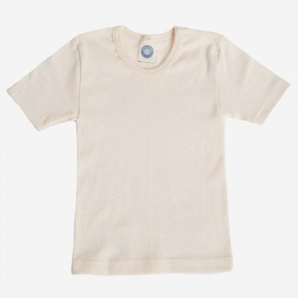 Unterhemd kurzarm natur Baumwolle