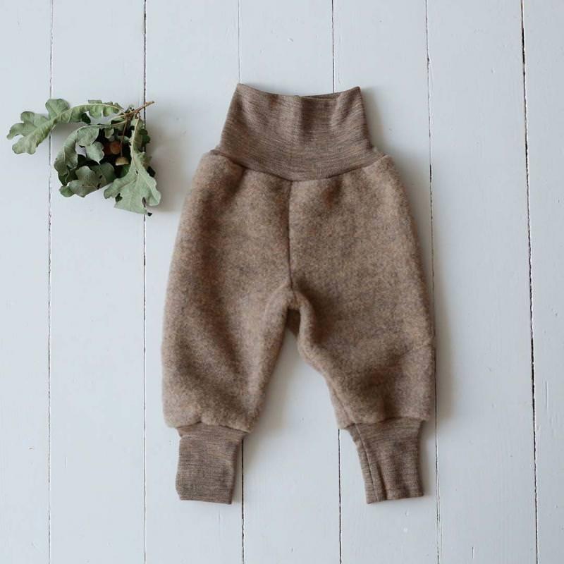Babyhose Wollfleece walnuss