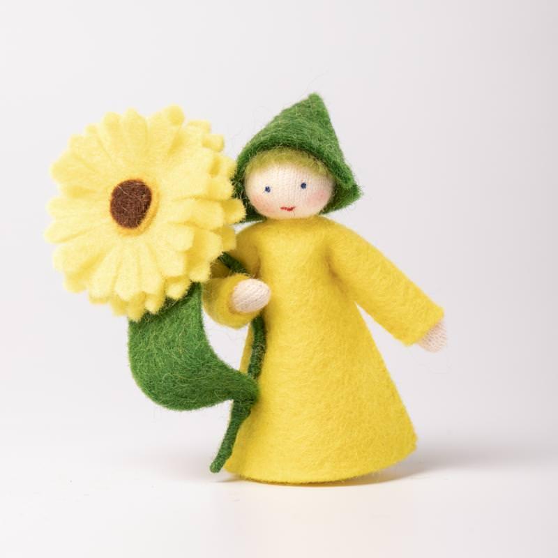 Filzpüppchen Blumenkind Zinnie 2