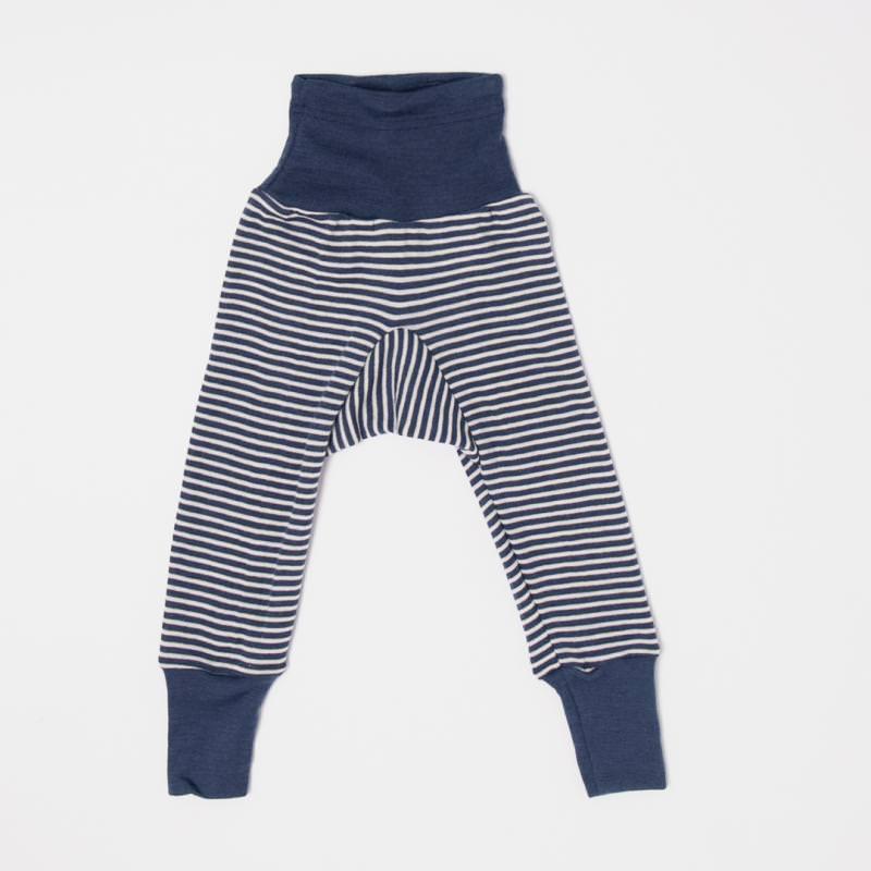 Baby Hose mit Bund von Cosilana in marine geringelt