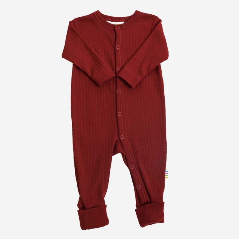 Schlafanzug Merinowolle rot