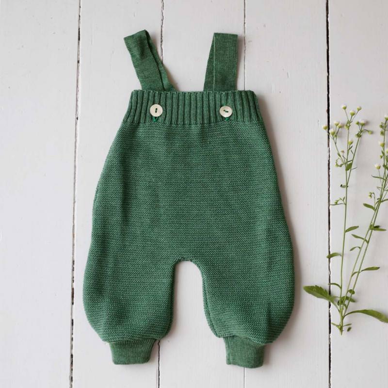 Salopette Trägerhose Wolle dusty green