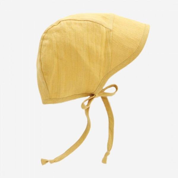 Leinen Häubchen mit Schirm suncup
