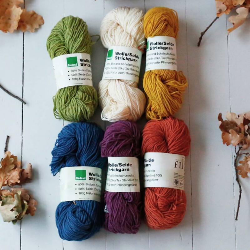 Strickwolle Wolle/Seide