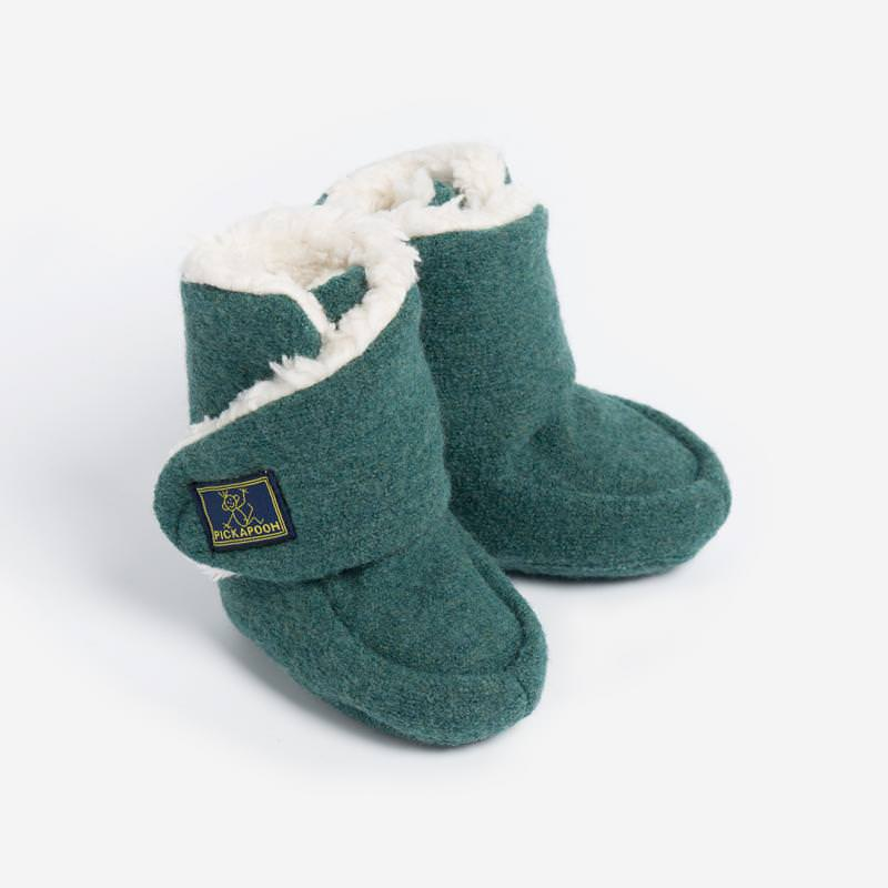 Baby-Stiefel Trotter Wollwalk mineral green