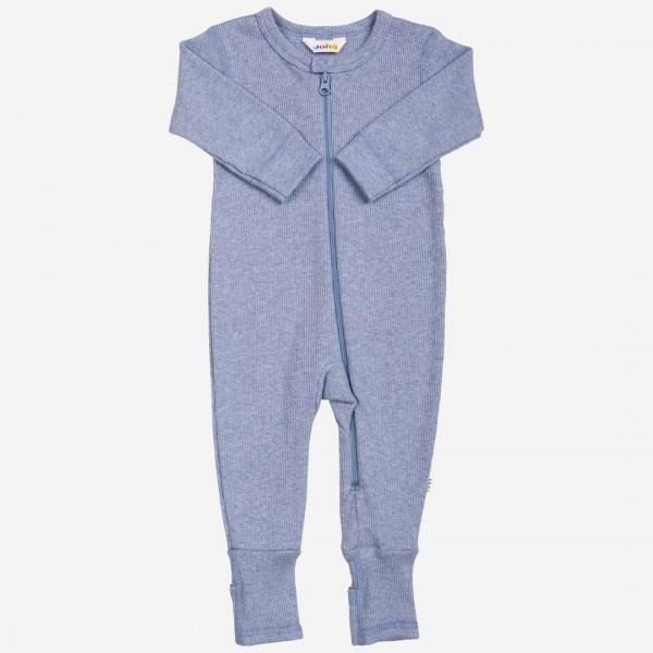 Jumpsuit Baumwolle bleu melange