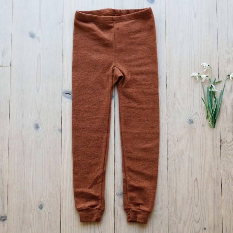 Lange Unterhose Wolle/Seide rust