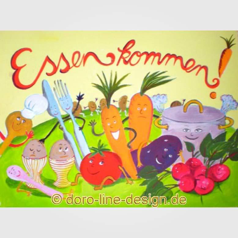 Postkarte Essen kommen