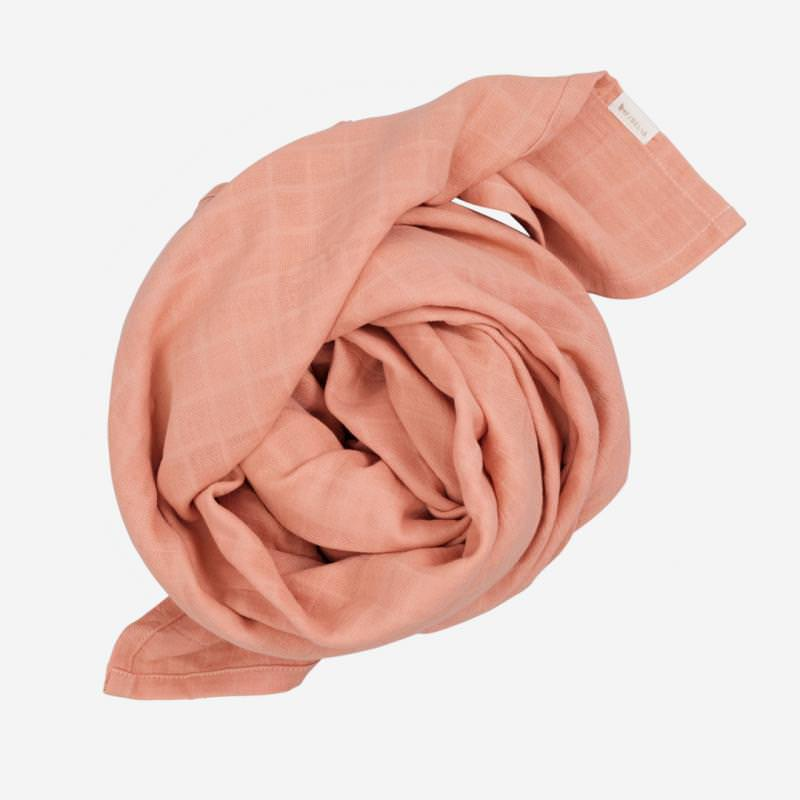 Swaddle Musselin Tuch groß old rose