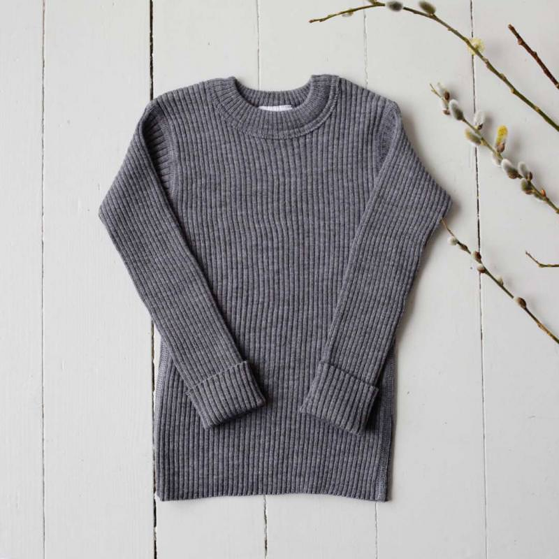 Pullover Wolle schiefer