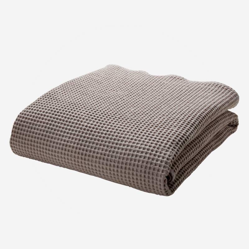 cotonea bio baumwolle handtuch saunatuch waffel piqué pikee leinen hellgrau