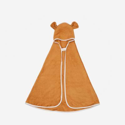 Kapuzen Baby Handtuch Bär ochre
