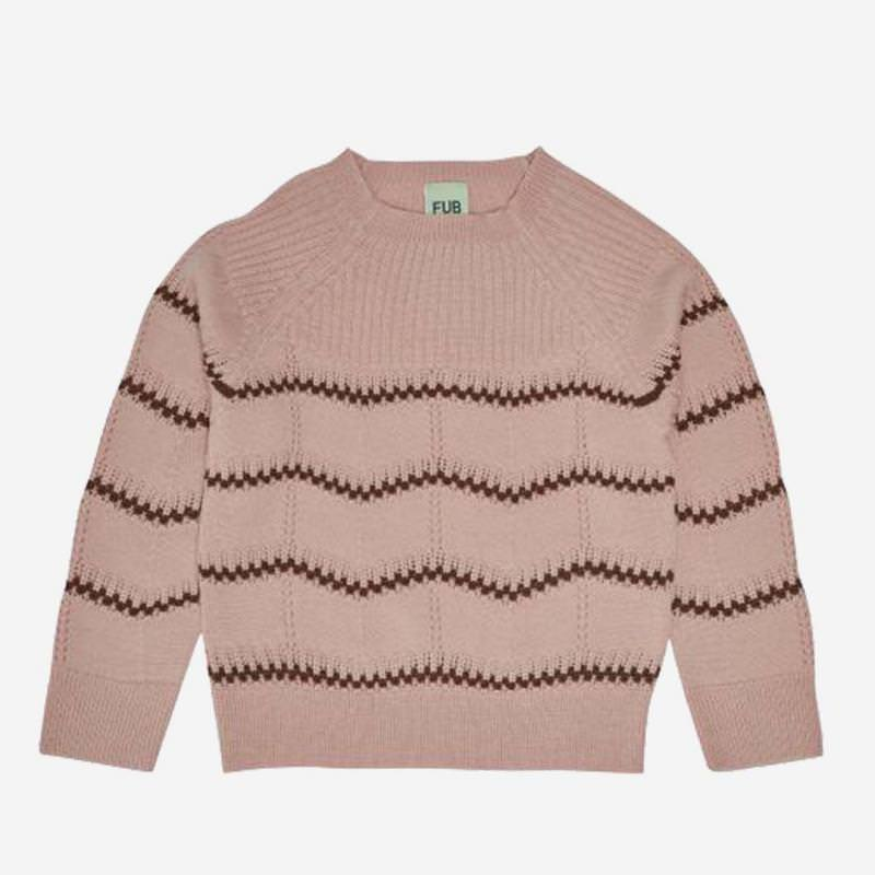 Pullover Pointelle Wolle pale pink
