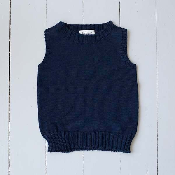 Pullunder Wolle dunkelblau