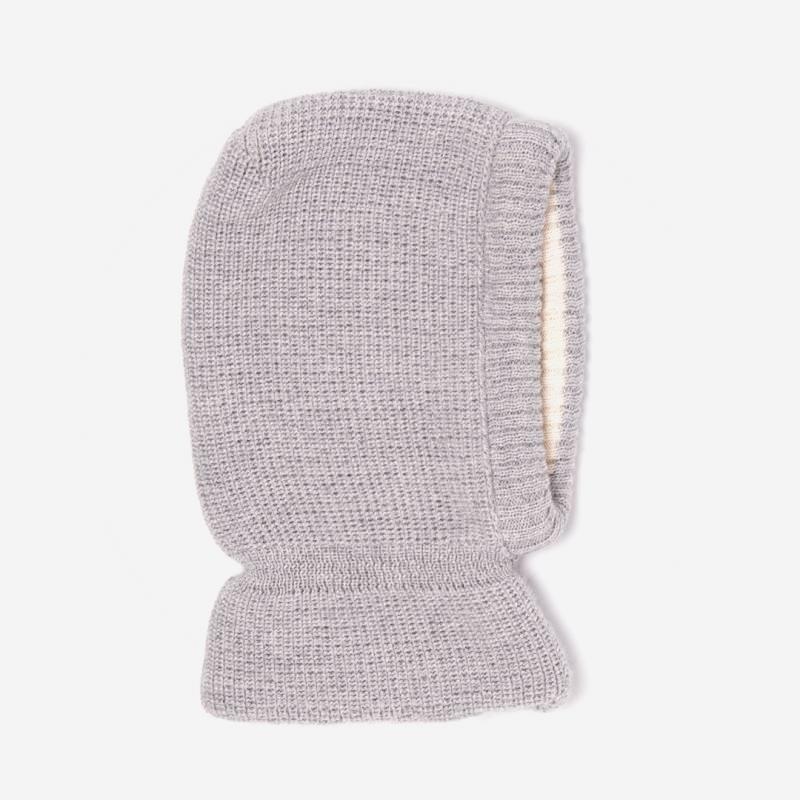 Schalmütze Wolle/Baumwolle grau
