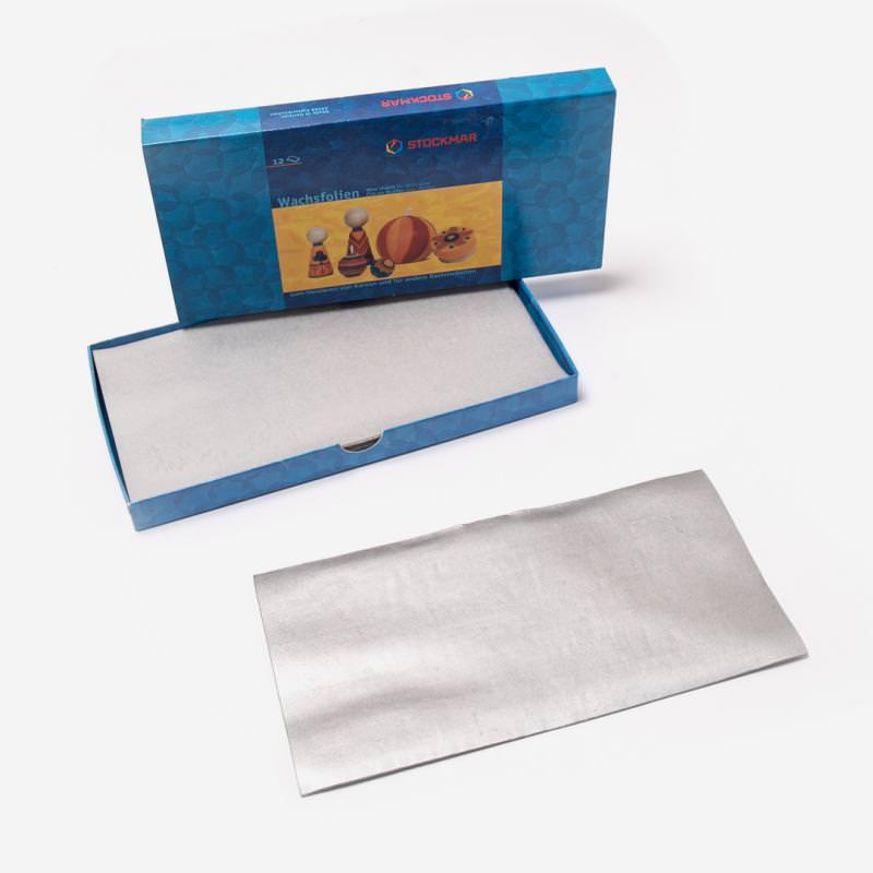 Wachsfolie 200 x 100 mm von Stockmar in silber, einzeln