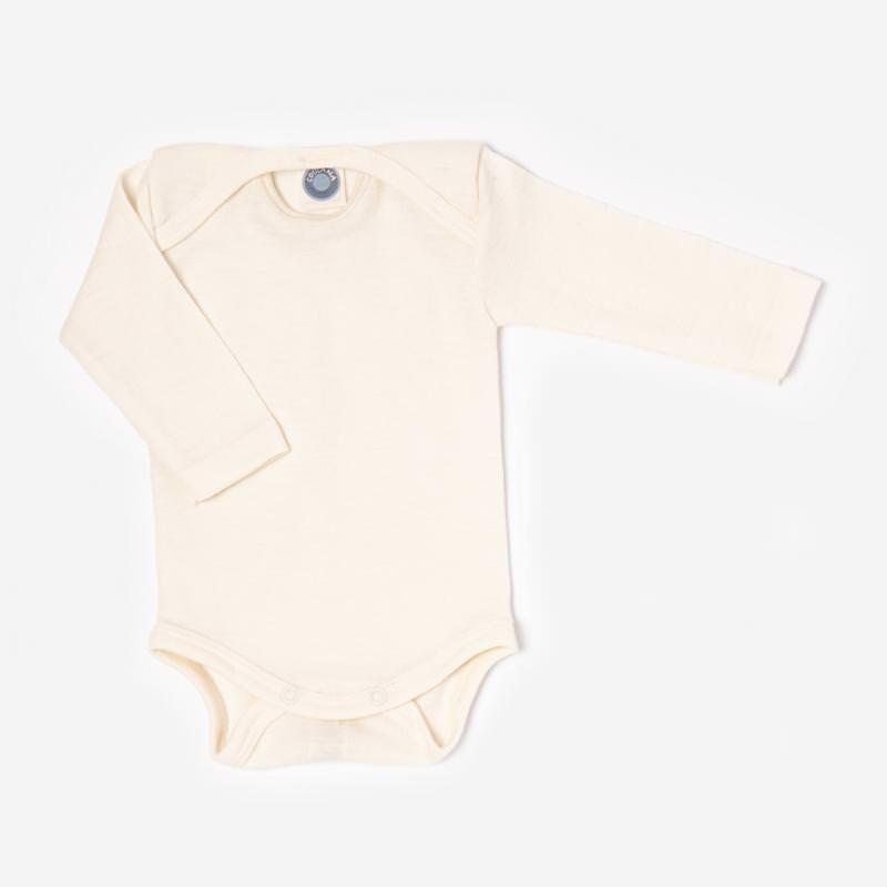 Baby Body von Cosilana in Wolle/Seide in natur 71053