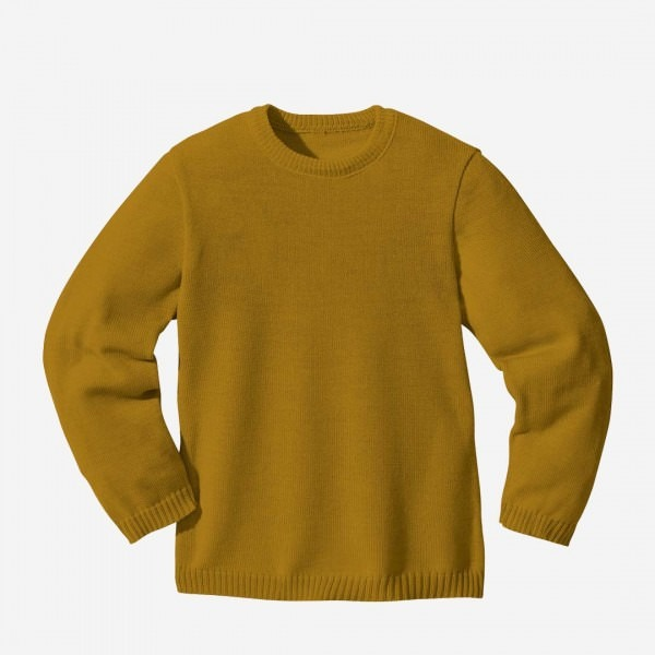 Basic Pullover Wolle gold