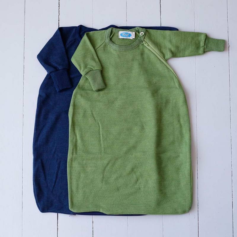 Schlafsack mit Arm Wolle/Seide Frottee