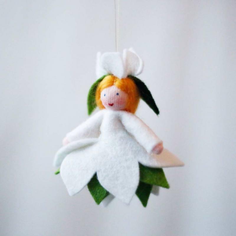 Filzpüppchen Christrose hängend