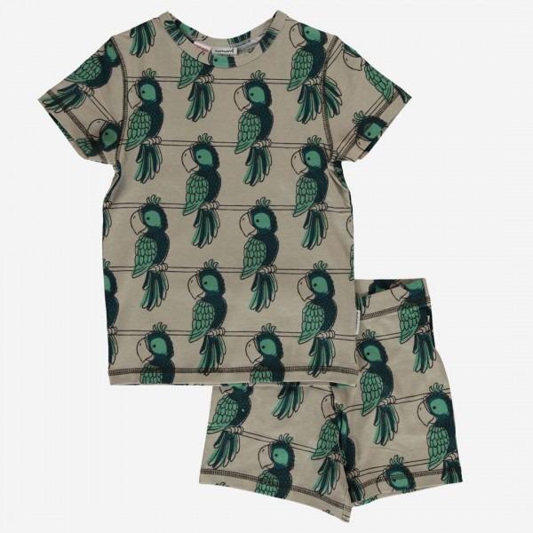 kurzer Schlafanzug Papagei