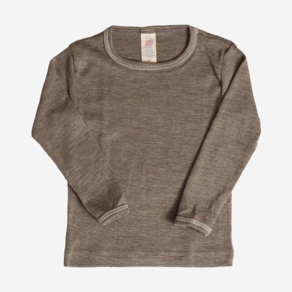 Unterhemd walnuss Wolle/Seide