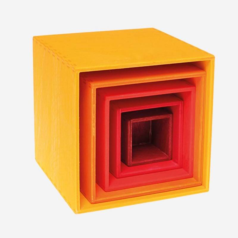 Kleiner Kastensatz gelb