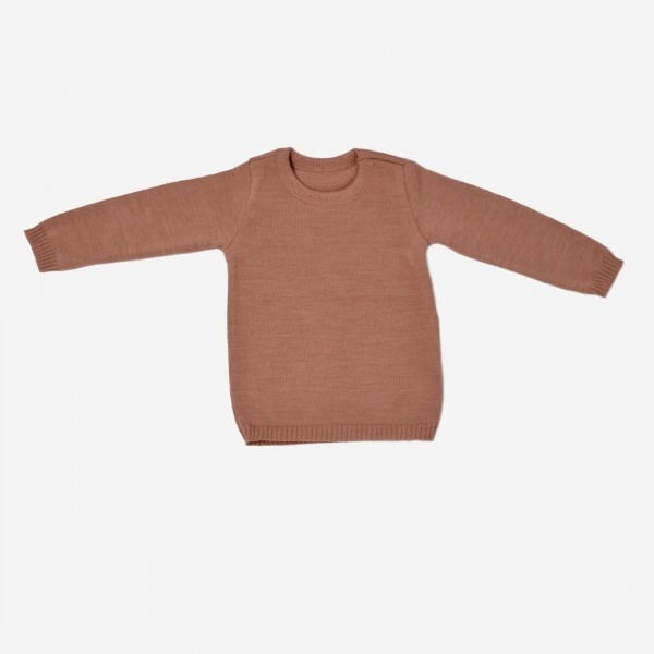 Basic Pullover Wolle Rosé