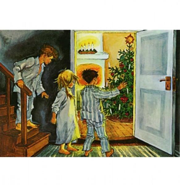 Postkarte Weihnachten in Bullerbü