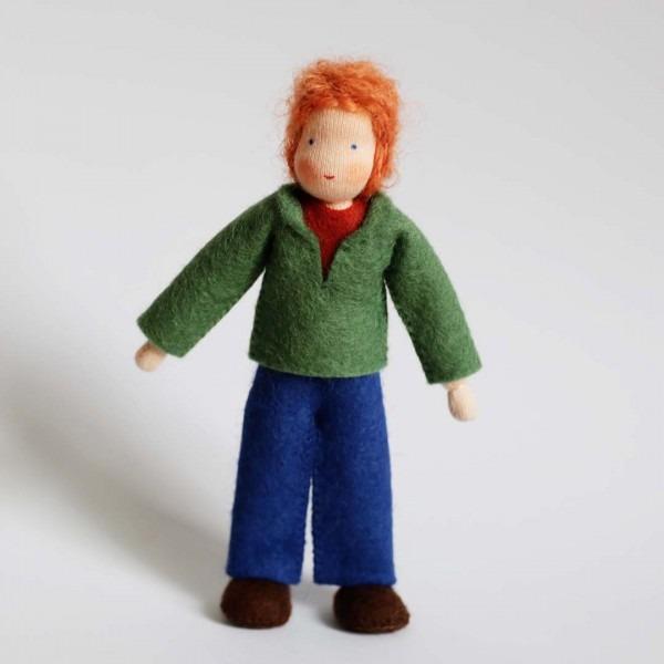 Puppenstuben Papa rotes Haar