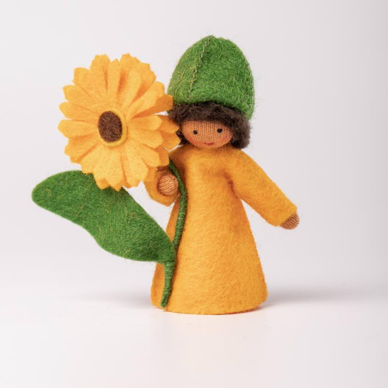 Filzpüppchen Blumenkind Ringelblume 3