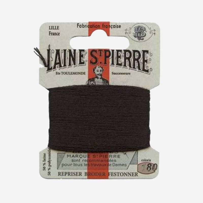 Stopfgarn von Laine Saint-Pierre in schwarz Farbnummer 180