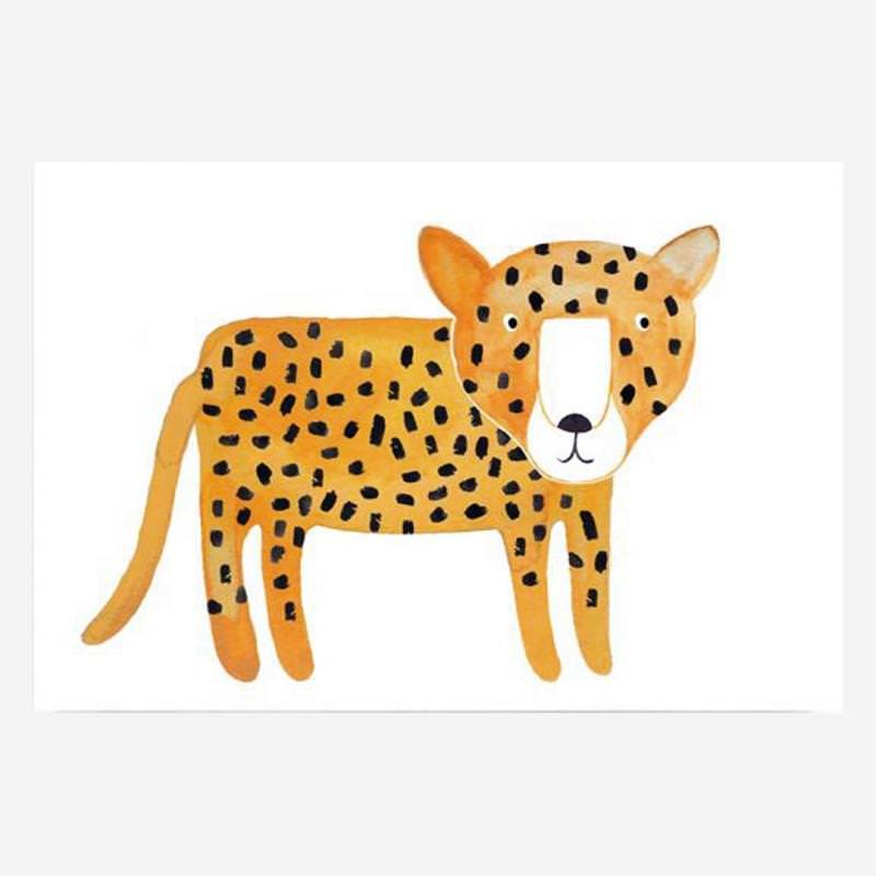 Postkarte Leopard