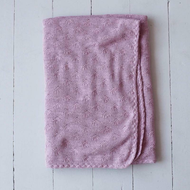 Babydecke Seide dusty pink
