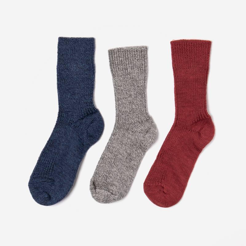 Socke Wolle meliert