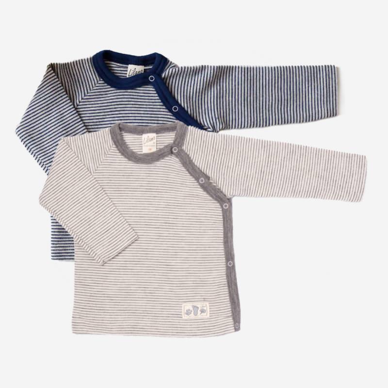 Shirt mit Knopfleiste Wolle/Seide