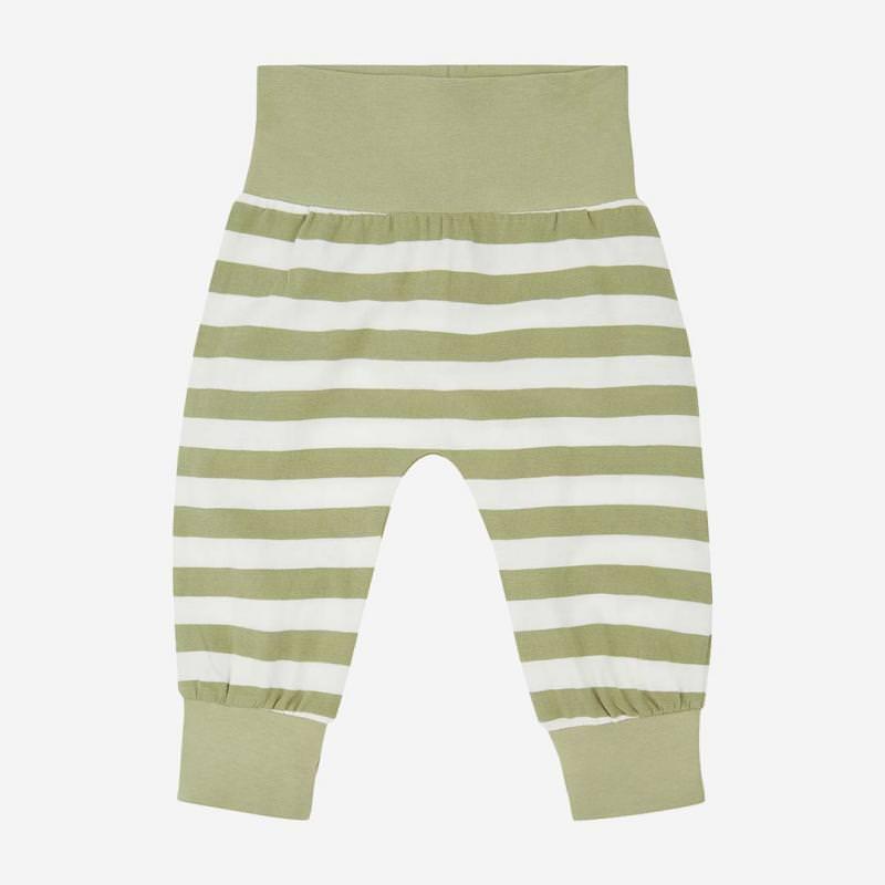 Babyhose Sjors oliv-stripe
