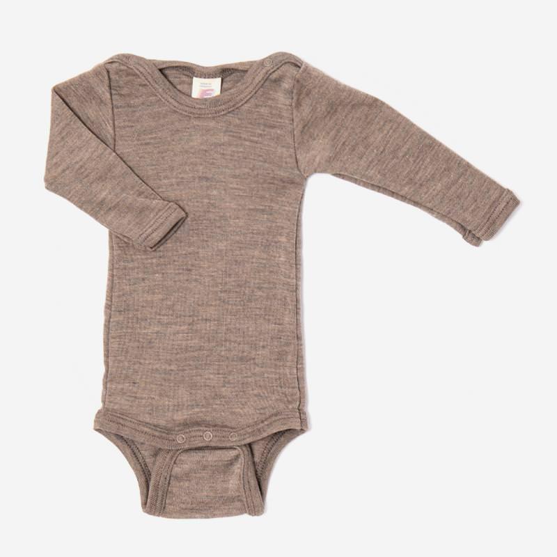 Baby Body von Engele Natur aus Wolle/Seide Mischung in walnuss braun