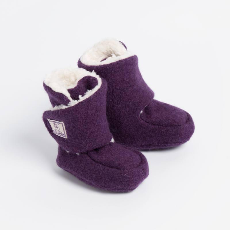 Baby-Stiefel Trotter Wollwalk lila