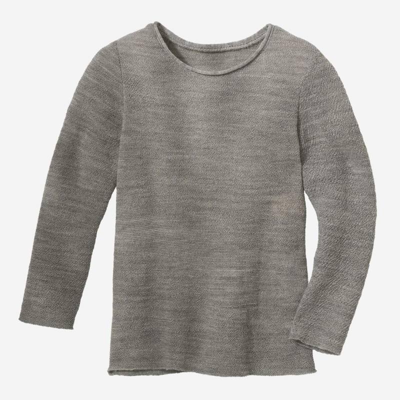 Langarm Pullover kieselgrau