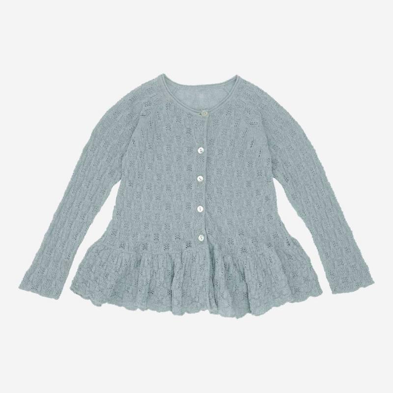 Kinder Cardigan Cypres Frill von Konges Sløjd aus Bio-Baumwolle in quarry blue