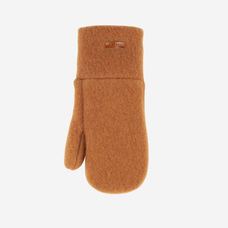 Kinder Fausthandschuhe von Pure Pure aus Merinowolle in karamell